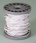 PVC Coated Copper Connecting Hookup Wire 100 ft White