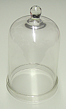 Bell Jar Glass With Knob Top 6 x 10 Inch