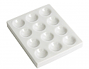 Cavity Reaction Spot Plate Porcelain, 12 Cavities