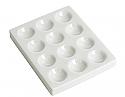 Cavity Reaction Spot Plate Porcelain, 12 Cavities
