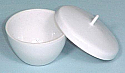 Crucible with Lid Porcelain Low Form 30ml