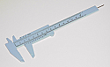Vernier Caliper Calipers Plastic Double Scale