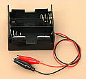 'D' Cell Double Battery Holder With Clips