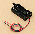 'AA' Cell Double Battery Holder With Wire Switch