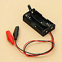 'AA' Cell Double Battery Holder With Clips Switch