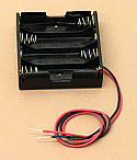 'AA' Four Cell Battery Holder With Wire