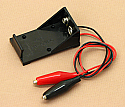 '9V' Cell Battery Holder With Clips
