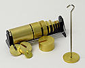 Slotted Weight Set of 14 Brass with Stand and Hanger