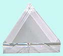 Prism Acrylic Equilateral 75 x 25mm, Flat