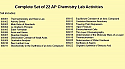 Complete Set of 22 AP Chemistry Lab Activities