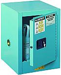 Justrite Sure-Grip EX Metal Acid Cabinet 4 Gallon 1 Door 1 Shelf