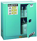 Justrite Sure-Grip EX Metal Acid Cabinet 30 Gallon 2 Doors 1 Shelf