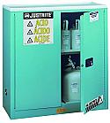 Justrite Sure-Grip EX Metal Acid Cabinet 30 Gallon 2 Doors 1 Shelf