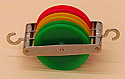 Pulley Plastic Triple Parallel 50mm
