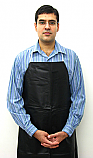 Lab Apron Black 36 x 42 Inch