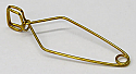 Test Tube Clamp Steel Brass Plated