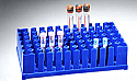 Test Tube Rack for 72 Tubes x 17mm, PP Blue SmoothRack