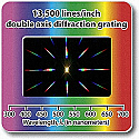Diffraction Grating Slides-Double Axis 13,500 Line/inch