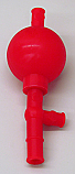 Pipet Pipette Filler Bulb Silicone, Red