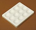 Cavity Reaction Spot Plate PP, 12 Cavities