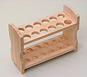 Test Tube Rack Wooden 12 Tubes x 23mm