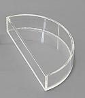 Acrylic Refraction Cell Semi-Circular