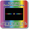 Diffraction Grating Slides-Linear 500 Line/mm