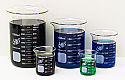 Beaker Borosilicate Glass Lab Zap Set of 5