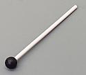 Tuning Fork Mallet Rubber Bong, Plastic Handle