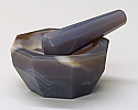 Mortar and Pestle Agate 125mm