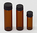 Amber Glass Vials 3 Dram
