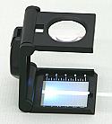 Linen Tester Prefocus Folding Magnifier 5X with Scale & Light