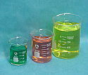 Beaker Borosilicate Glass Set of 3 (50, 100, 250)