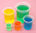 Beaker Graduated Plastic PP Set of 5