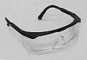 Safety Glasses, Black Frame