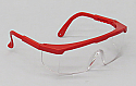 Safety Glasses, Red Frame