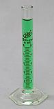 Graduated Cylinder Borosilicate Glass Hex Base Lab Zap 5mL