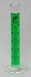 Graduated Cylinder Borosilicate Glass Hex Base Lab Zap 50mL