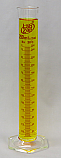 Graduated Cylinder Borosilicate Glass Hex Base Lab Zap 250mL