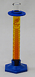 2-Part Graduated Cylinder Borosilicate Glass with Plastic Guard & Base Lab Zap 10mL