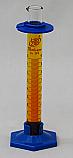 2-Part Graduated Cylinder Borosilicate Glass with Plastic Guard & Base Lab Zap 10mL