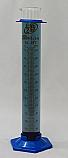 2-Part Graduated Cylinder Borosilicate Glass with Plastic Guard & Base Lab Zap 250mL