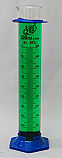 2-Part Graduated Cylinder Borosilicate Glass with Plastic Guard & Base Lab Zap 500mL