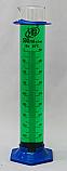 2-Part Graduated Cylinder Borosilicate Glass with Plastic Guard & Base Lab Zap 500mL