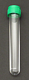 PS Test Tubes Round Bottom with Screw Cap 15x100mm