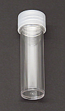 Test Tube Plastic Flat Bottom with Screw Cap 25x92mm, 30mL