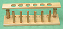 Test Tube Rack Wooden for 6 Tubes 22mm