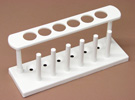 PE Test Tube Rack for 6 Tubes x 25mm