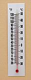 Thermometer Plastic Back Double Scale