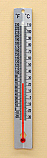 Thermometer Metal Back Double Scale